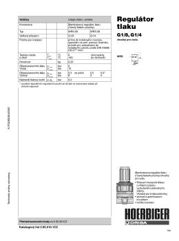 Regulátor tlaku – mosazný, pro vodu WRS-08