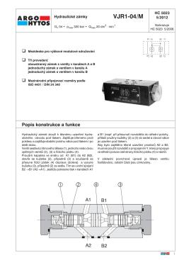 Základní parametry Typový klíč VJR1-04/M - ARGO