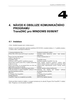 návod k obsluze programu transdnc pro windows