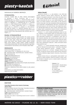 1-2/2015 - Plasty a kaučuk