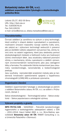 Botanický ústav AV ČR, v.v.i.