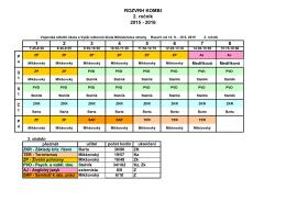 Rozvrh kombi 2. ročník 15-16 - Vojenská střední škola a Vyšší