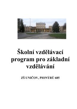 svp3 - ZŠ Uničov, Pionýrů