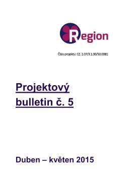 Projektový bulletin č. 5
