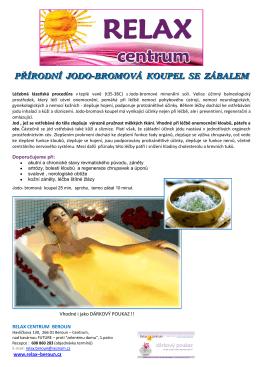 přírodní jodo-bromová koupel se zábalem