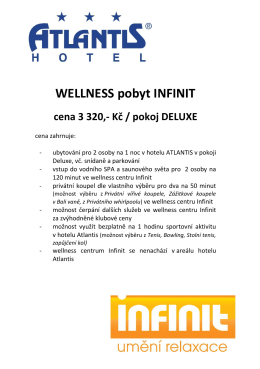 Wellness pobyt INFINIT - 3.320,