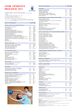 ceník léčebných procedur tabule 70x100_2011