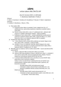 zápis - sekce klinické neuroimunologie a likvorologie