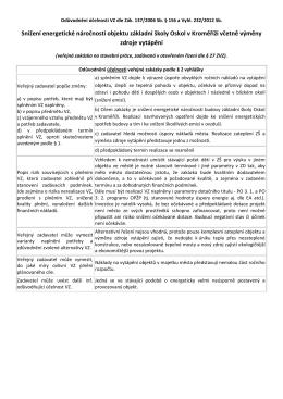 Odůvodnění účelnosti veřejné zakázky - ZŠ Oskol - E