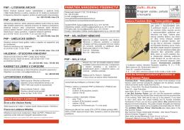 září—říjeN Program výstav, pořadů a koncertů památNík NárodNího