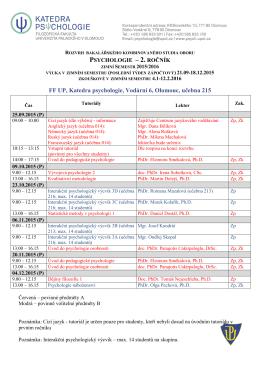 psychologie-roÄ nÃk-2-zimnÃ-semestr-15-16