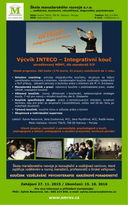 Výcvik INTECO – Integrativní kouč
