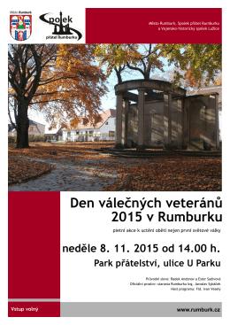 Den válečných veteránů 2015 v Rumburku