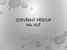 Otevřený přístup na VUT