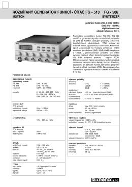 rozmítaný generátor funkcí - čítač fg - 513 fg - 506