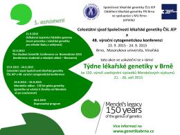 Celostátní sjezd lékařské genetiky a 48. výroční cytogenetická