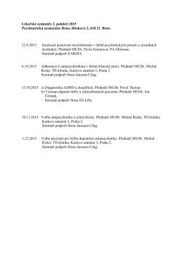 lékařské semináře na ii_ pololetí 2015