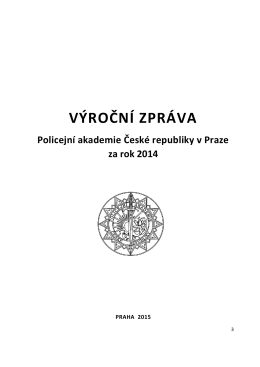 2014 - Policejní akademie ČR