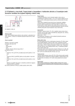 2.13 Zařízení s více kotli: Topný kotel s čerpadlem v