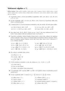 Vektorová algebra v E2