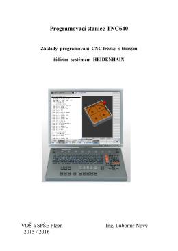 Programovací stanice TNC640