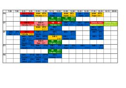 Aktuální rozdělení výuky LS 2015