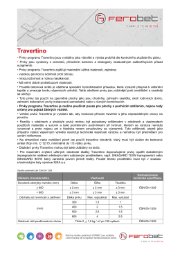 Technické listy - Travertino
