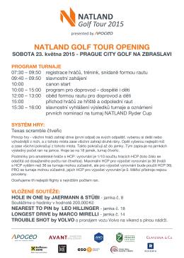 NATLAND GOLF TOUR OPENING