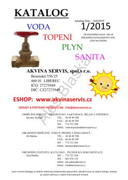 KATALOG 1/2015 - Akvina servis s.r.o.
