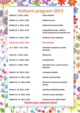 Kulturní program 2015