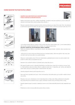 Horní montáž tectonitových dřezů(500.58 kB, PDF)