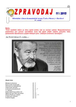 Zpravodaj MěV 11 - OV KSČM Karviná