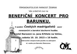 Koncert renesanční a barokní duchovní hudby