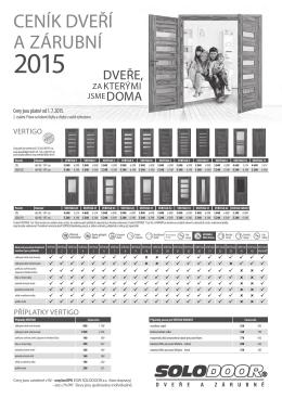 Ceník od 1.6.2015