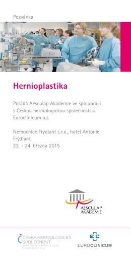Pozvánka na workshop Hernioplastika