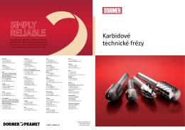 DORMER - katalog karbidové technické frézy