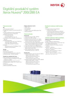 Digitální produkční systém Xerox Nuvera® 200/288 EA