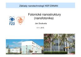 Fotonické nanostruktury (nanofotonika)