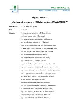 Libchavy 23. 3. 2015 - zápis