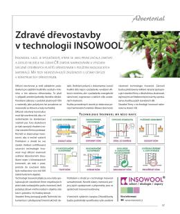 Zdravé dřevostavby v technologii INSOWOOL