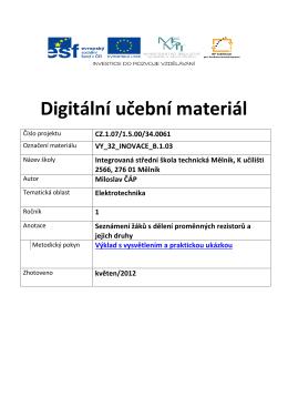 vy_32_inovace_b.1.03 - Integrovaná střední škola technická, Mělník