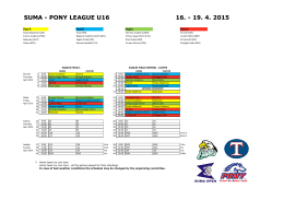 SUMA - PONY LEAGUE U16 16.