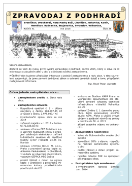 Zpravodaj z podhradí č. 26 - r. 2015