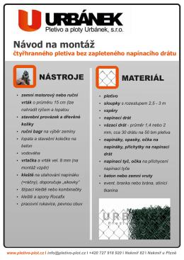 čtyřhranné pletivo_Návody_pletivo a ploty Urbánek - Pletivo