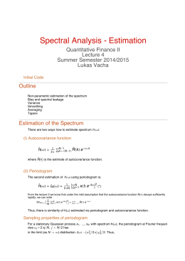Spectral Analysis Estimation