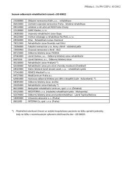 Seznam odborných rehabilitačních ústavů