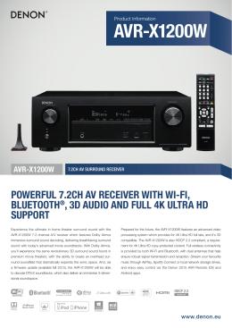 AVR-X1200W - Luxusní