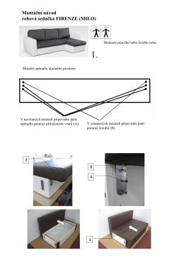 Montážní návod rohová sedačka FIRENZE (MILO)