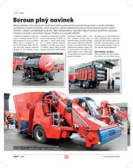 Beroun plný novinek (DOD) - Mechanizace zemědělství č. 2/2015