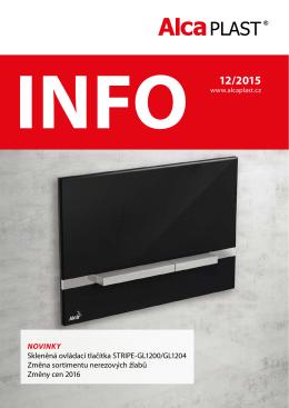 INFO 12/2015 - Alca plast, sro